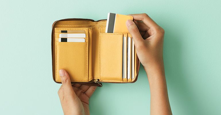 Wallet and credit cards